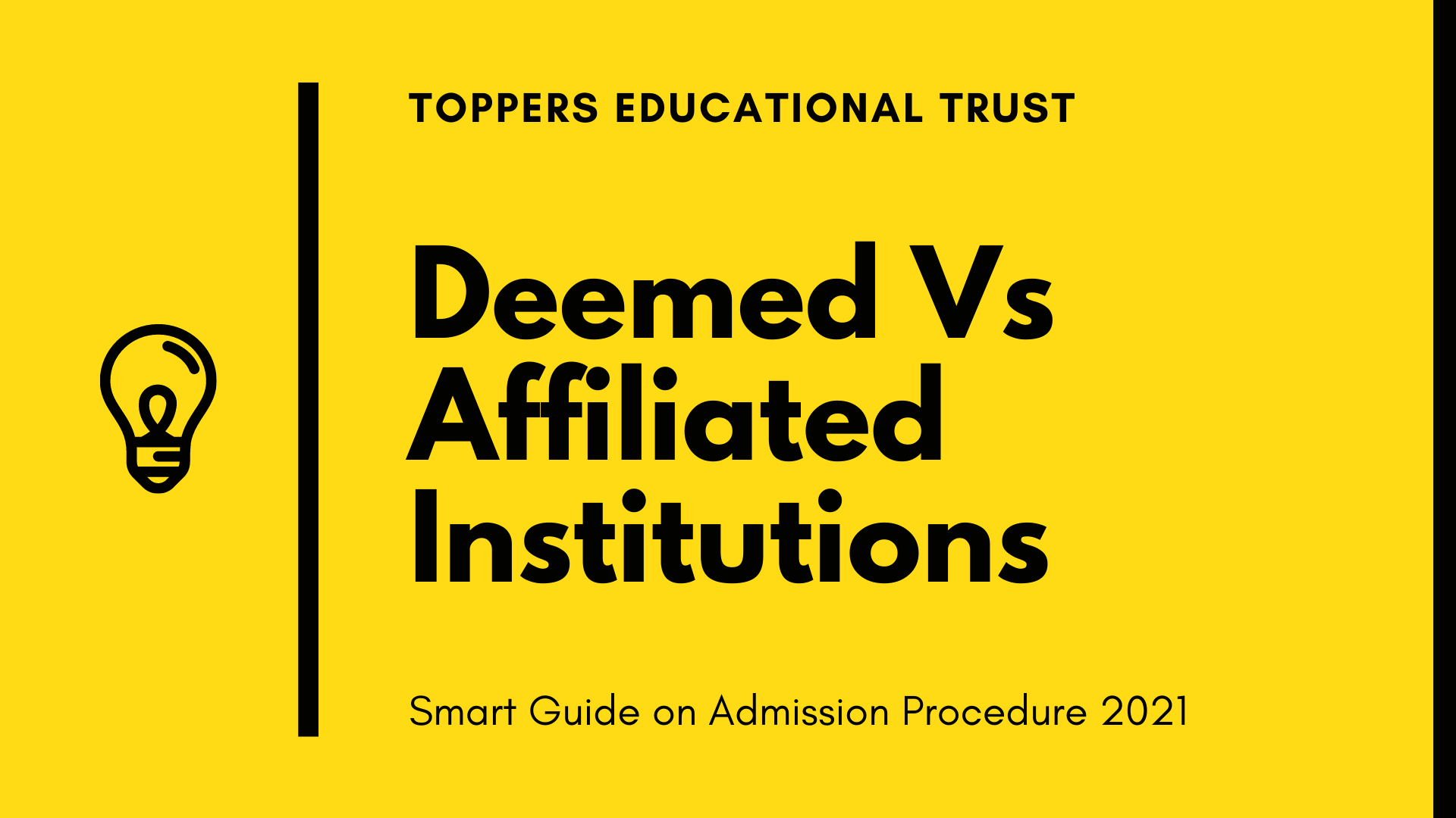Admission at Deemed University Vs Affiliated College
