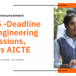 Sep 5 -Deadline for Engineering admissions, orders AICTE
